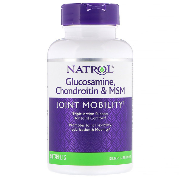 Glucosamine, Chondroitin & MSM, 90 Tablets
