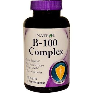 Natrol, B-100 Complex, 100 Tablets