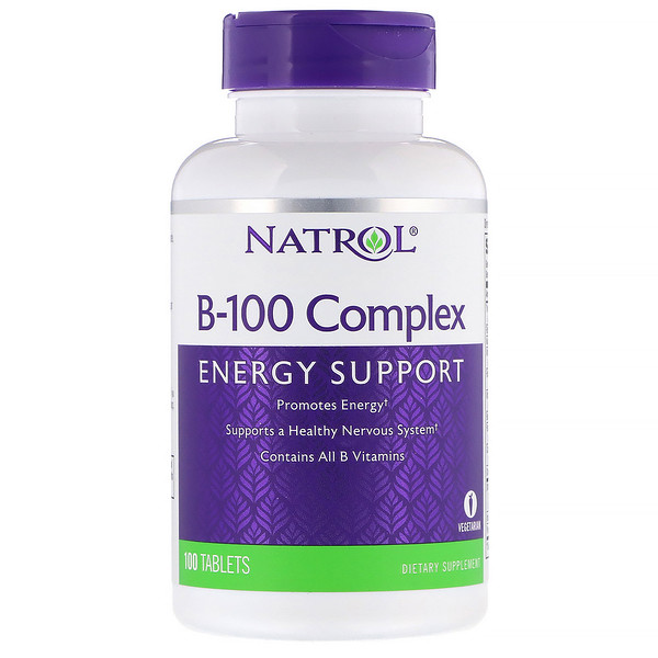 Natrol, B-100 Complex, 100 Tablets (Discontinued Item)