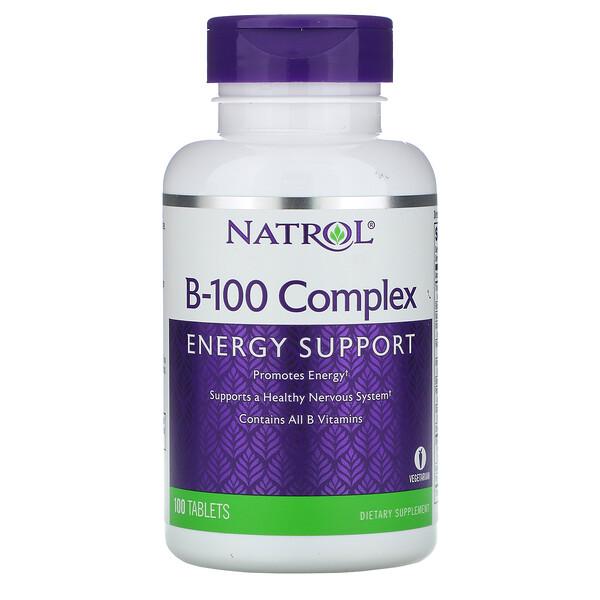 Natrol, Complexo B-100, 100 Comprimidos (Discontinued Item)