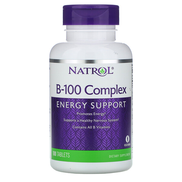 Natrol, B-100 Complex, 100 Tablets (Discontinued Item)