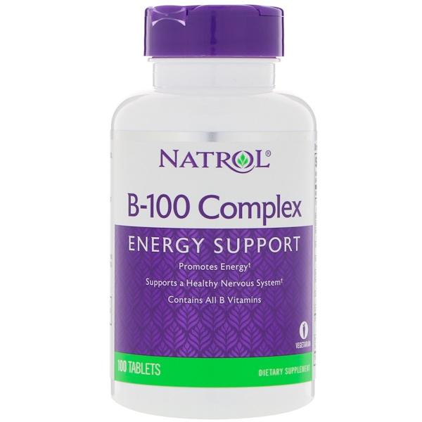 Natrol, B-100複合物,100片