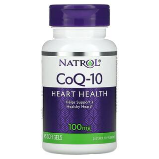Natrol, CoQ-10, 100 mg, 45 Softgels
