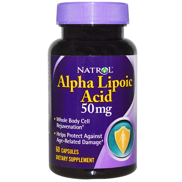Natrol, Alpha Lipoic Acid, 50 mg, 60 Capsules (Discontinued Item)