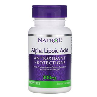 Natrol, حمض ألفا ليبويك 300 مجم، 50 كبسولة