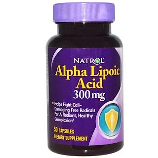 Natrol, Alpha Lipoic Acid, 300 mg, 50 Capsules