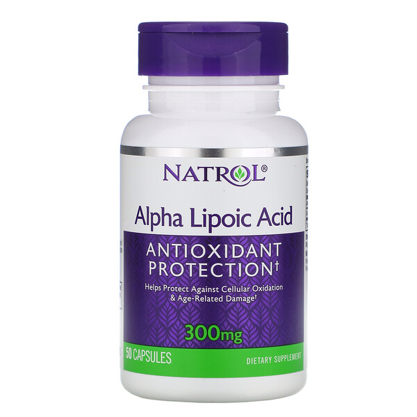 Alpha Lipoic Acid, 300 mg, 50 Capsules