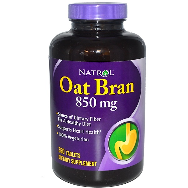 Natrol, Oat Bran, 850 mg, 360 Tablets (Discontinued Item)