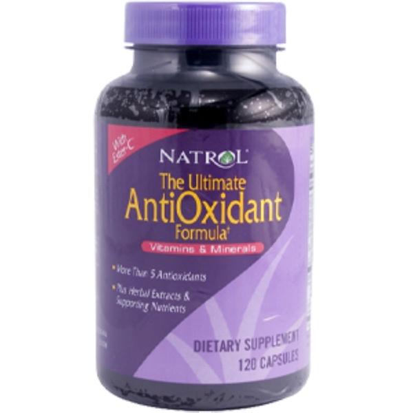 Natrol, The Ultimate AntiOxidant Formula Vitamins & Minerals, 120 Capsules (Discontinued Item)