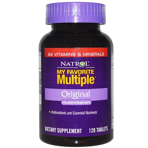 Natrol, My Favorite Multiple, Original Multivitamin, 120 Tablets (Discontinued Item)