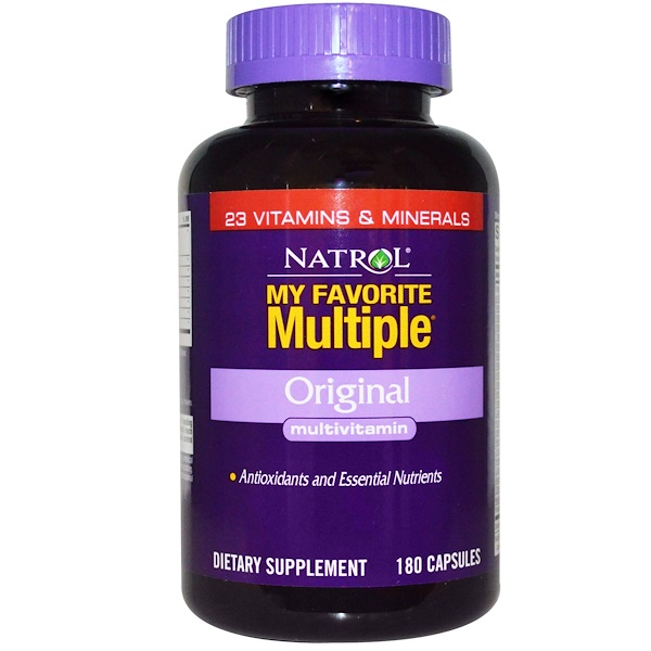 Natrol, My Favorite Multiple, Original, Multivitamin, 180 Capsules (Discontinued Item)