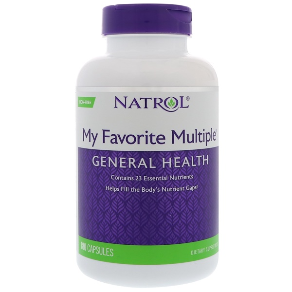 Natrol, My Favorite Multiple, Iron-Free, 180 Capsules