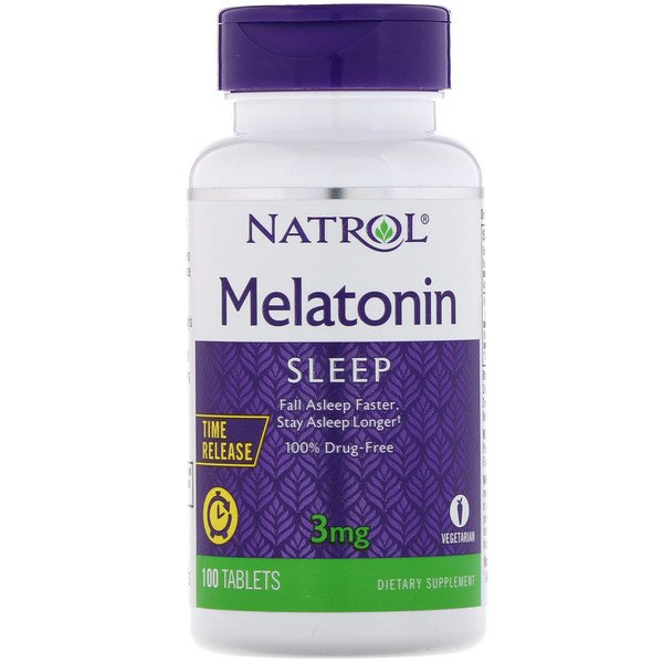 Melatonin, Time Release, 3 mg, 100 Tablets