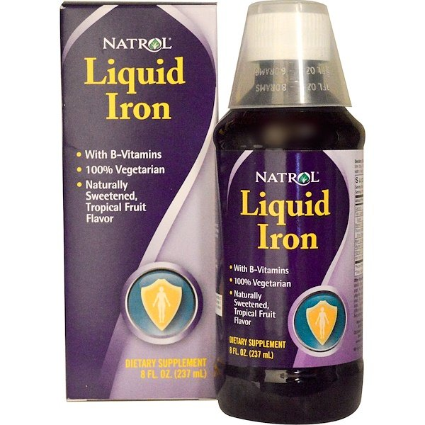Natrol, Liquid Iron, 8 fl oz (237 ml) (Discontinued Item)