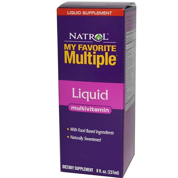 Natrol, My Favorite Multiple, Liquid, Multivitamin, 8 fl oz (237 ml) (Discontinued Item)