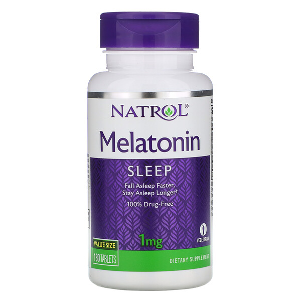 Natrol, Melatonin, 1 mg, 180 Tablets