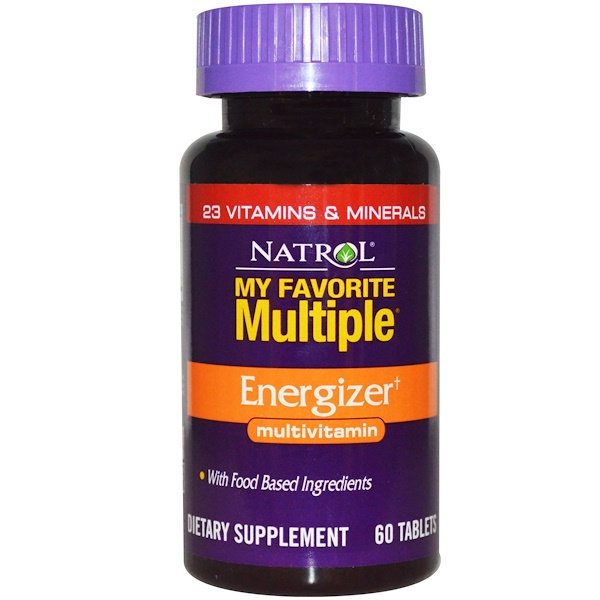 Natrol, My Favorite Multiple, Energizer, Multivitamin, 60 Tablets (Discontinued Item)