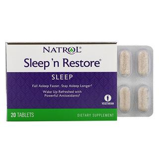Natrol, Sleep 'n Restore, 20 Tablets