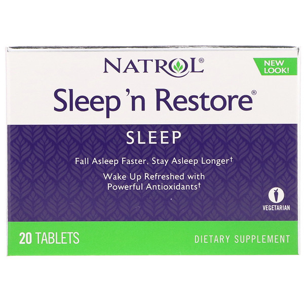 Natrol, Sleep 'n Restore, 20 таблеток