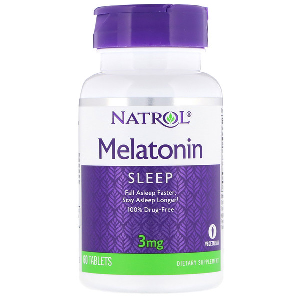 Natrol, Melatonina, 3 mg, 60 Tabletas