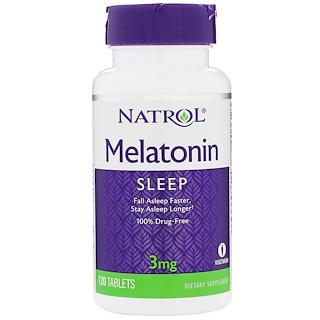 Natrol, Melatonin, 3 mg, 120 Tablets