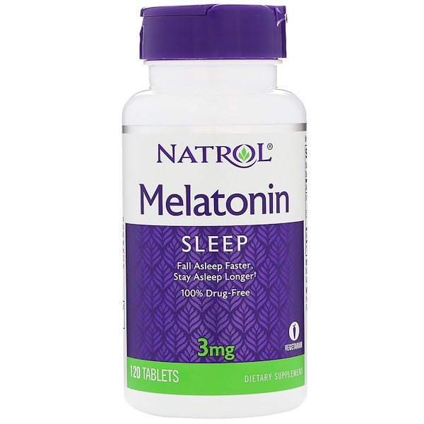 Natrol, Melatonin, 3 mg, 120 Tablets