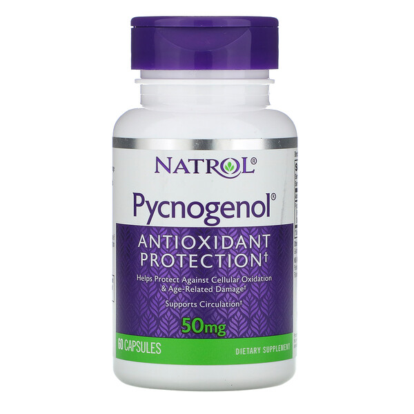 Pycnogenol, 50mg , 60cápsulas
