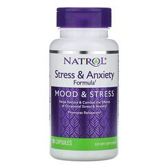 Natrol, 抗緊張和焦慮的配方,情緒和壓力,90粒膠囊