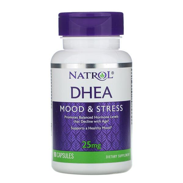 DHEA, 25 mg, 90 Capsules