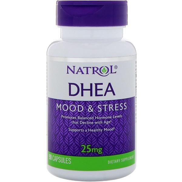 Natrol, DHEA, 25 mg, 90 Capsules