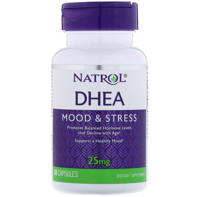 Natrol, DHEA脫氫表雄酮, 25 mg, 90 Capsules