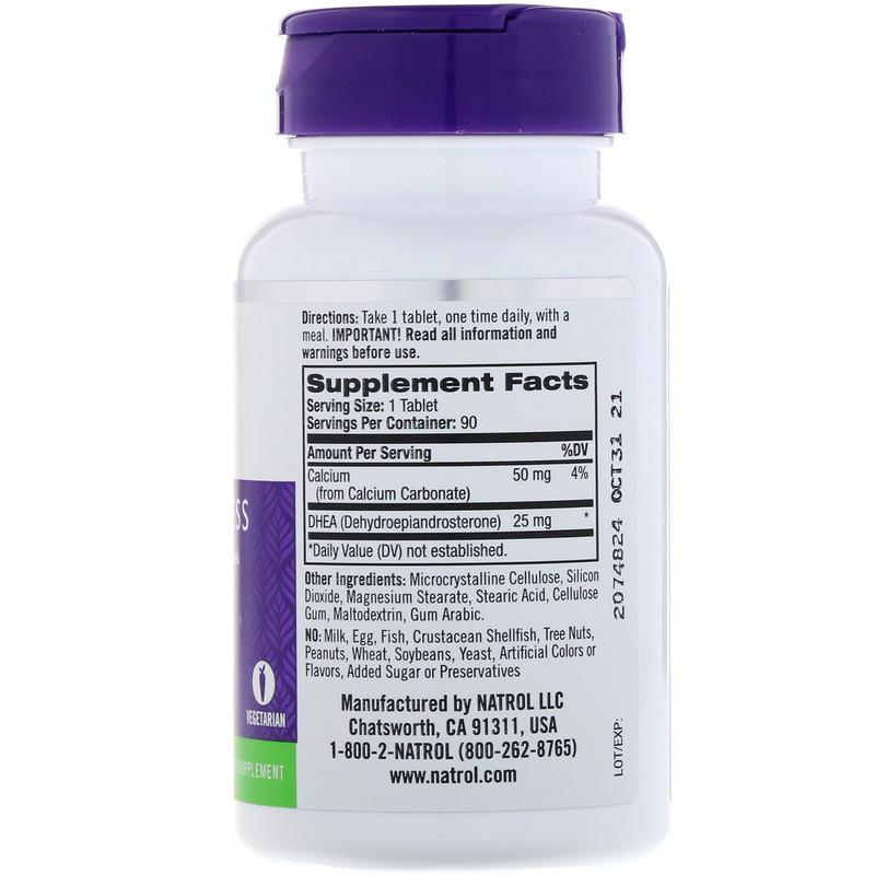 Natrol, DHEA, 25 mg, 90 Tablets - photo 1
