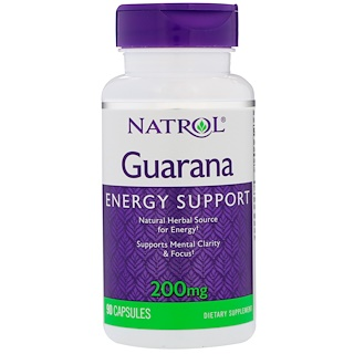 Natrol, 구아라나, 200 mg, 90 캡슐