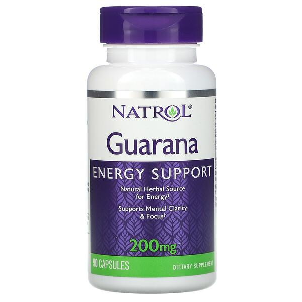 Guarana, 200 mg, 90 Capsules