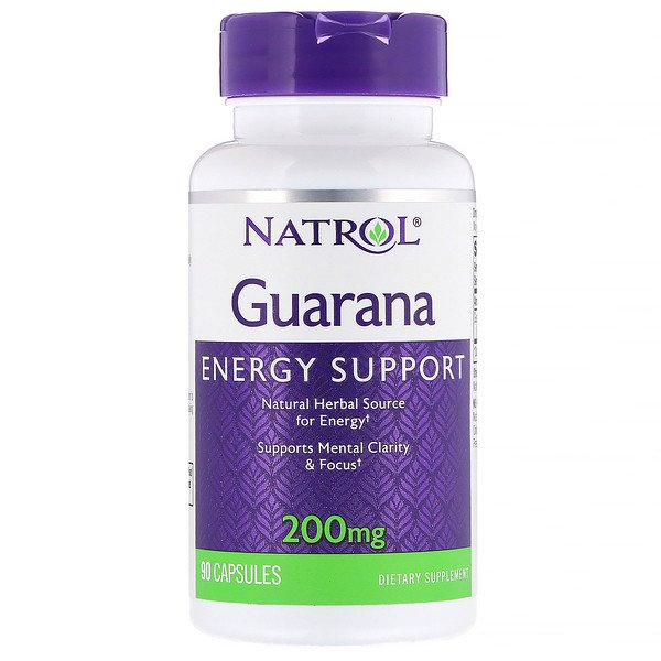 Natrol, Guarana, 200 mg, 90 Capsules