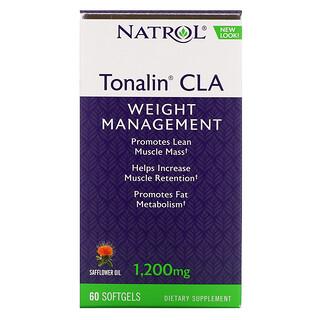 Natrol, Tonalin CLA, конъюгированная линолевая кислота (КЛК), 1200мг, 60мягких таблеток