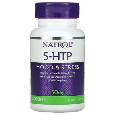 Natrol 5-HTP, Mood & Stress, 50 mg, 45 Capsules