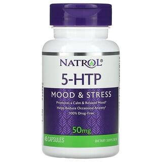 Natrol, 5-HTP,情緒與和壓力,50 毫克,45 粒膠囊