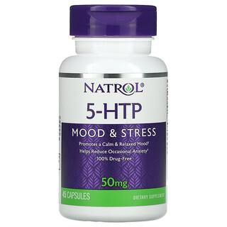 Natrol, 5-HTP, Mood & Stress, 50 mg, 45 Capsules