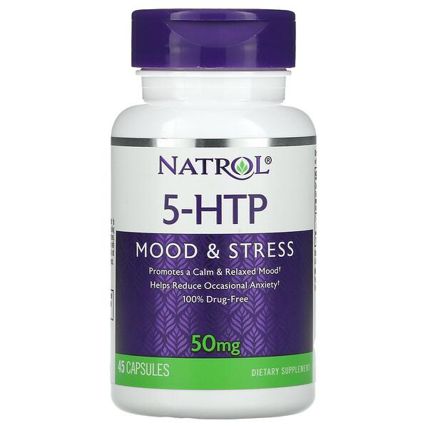 5-HTP, Mood & Stress, 50 mg, 45 Capsules