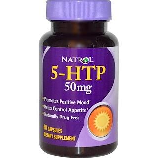 Natrol, 5-HTP, 50 mg, 60 Capsules