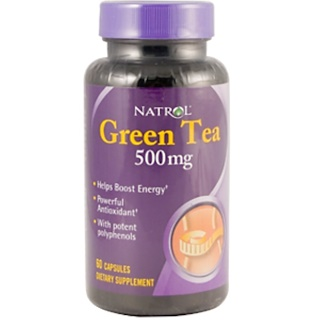 Natrol, Green Tea, 500 mg, 60 Capsules