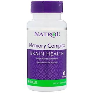Natrol, Memory Complex, 60 Tabletten