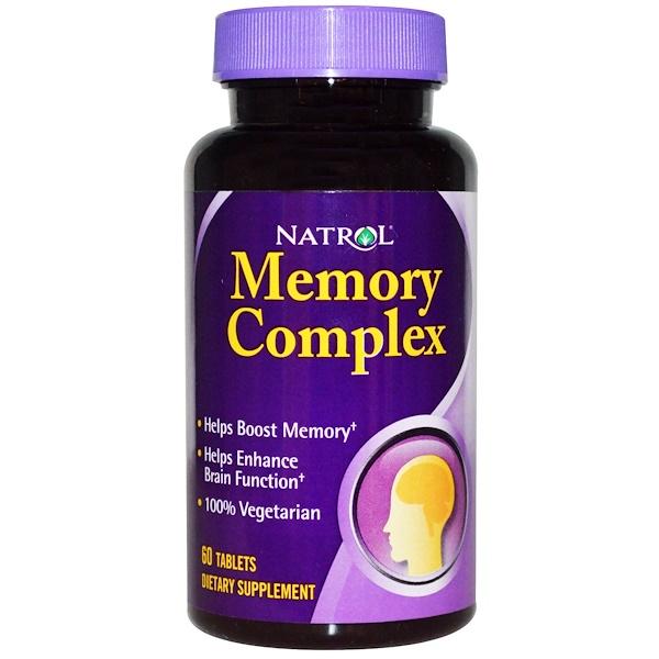 Natrol, Memory Complex para la Memoria, 60 Comprimidos