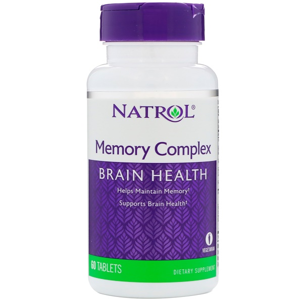 Natrol, تركيبة للذاكرة، 60 قرص