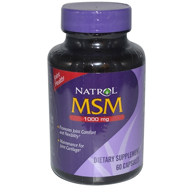 Natrol, MSM, 1000 mg, 60 Capsules (Discontinued Item)