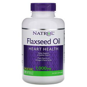 Нэтрол, Flaxseed Oil, Heart Health, 1,000 mg, 200 Softgels отзывы покупателей