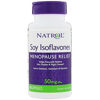 Natrol, Soy Isoflavones, 50 mg , 60 Capsules