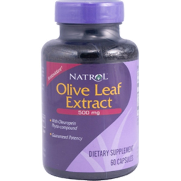 Natrol, Olive Leaf Extract, 500 mg, 60 Capsules (Discontinued Item)