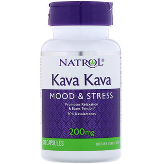 Natrol, カバカバ, 200 mg, 30 カプセル